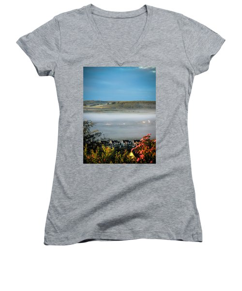 Morning Mist Over Lissycasey Women's V-Neck