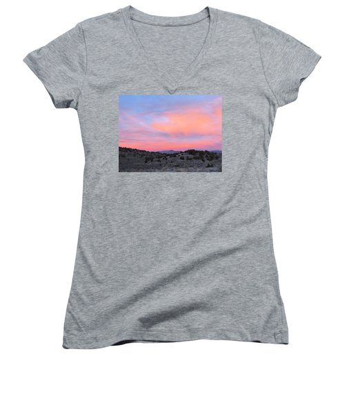 Morning Paints Women's V-Neck (Athletic Fit)