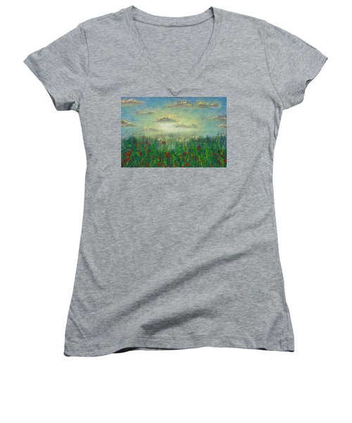 Morning Roses Women's V-Neck T-Shirt