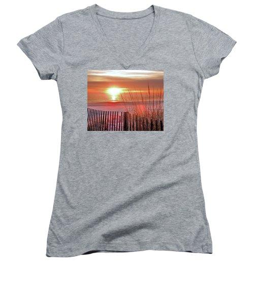 Morning Sandfire Women's V-Neck T-Shirt