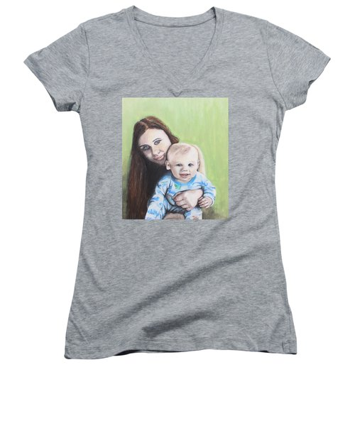 Mother And Son Women's V-Neck T-Shirt