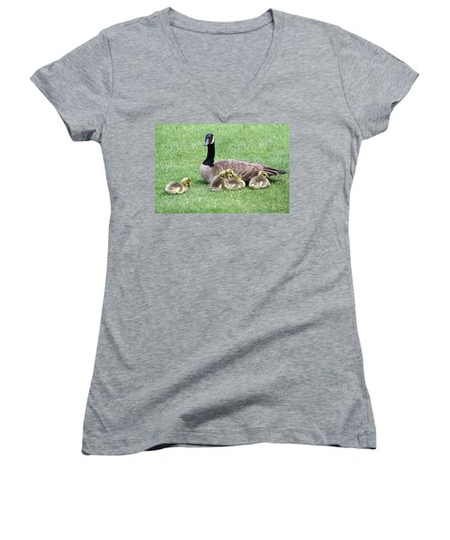 Mother And Young Women's V-Neck (Athletic Fit)