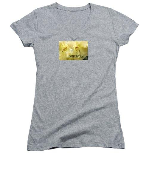 Women's V-Neck T-Shirt (Junior Cut) featuring the photograph Mothers Day by Jean OKeeffe Macro Abundance Art
