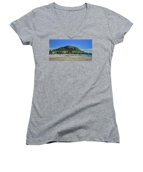 Mount Maunganui Beach 151209 Women's V-Neck