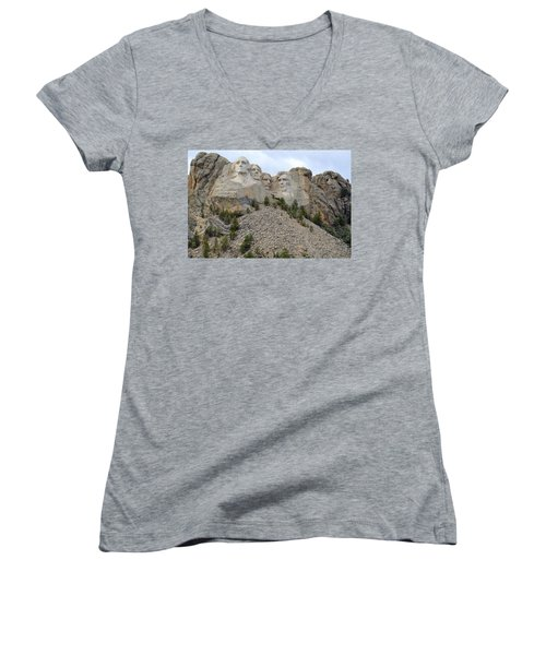 Mount Rushmore In South Dakota Women's V-Neck (Athletic Fit)