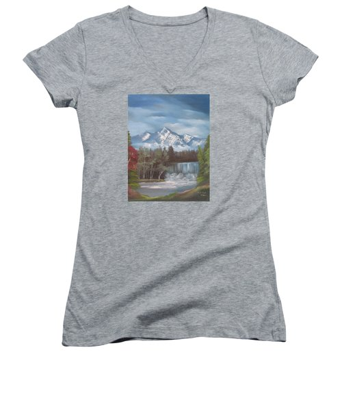 Mountain Dreams Women's V-Neck T-Shirt
