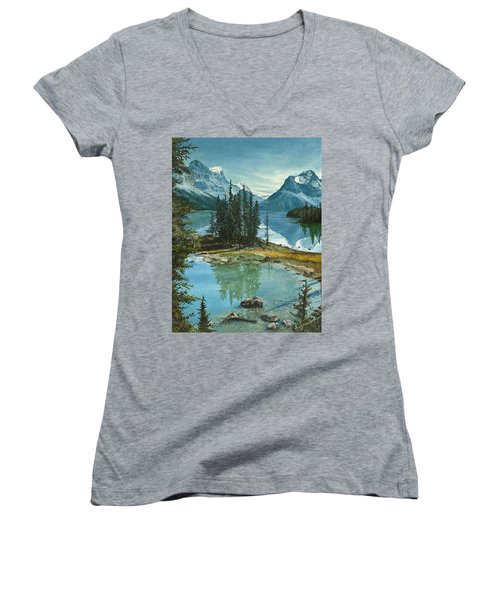Mountain Island Sanctuary Women's V-Neck (Athletic Fit)
