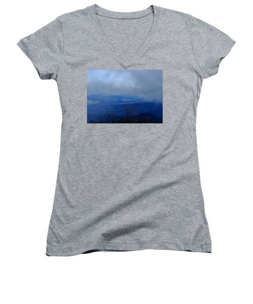 Mountains And Ice Women's V-Neck (Athletic Fit)