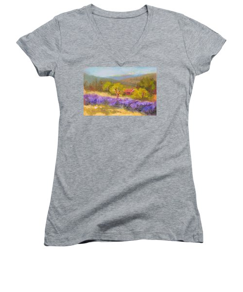 Mountainside Lavender   Women's V-Neck