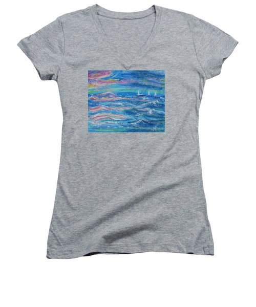 Movin' In Women's V-Neck (Athletic Fit)