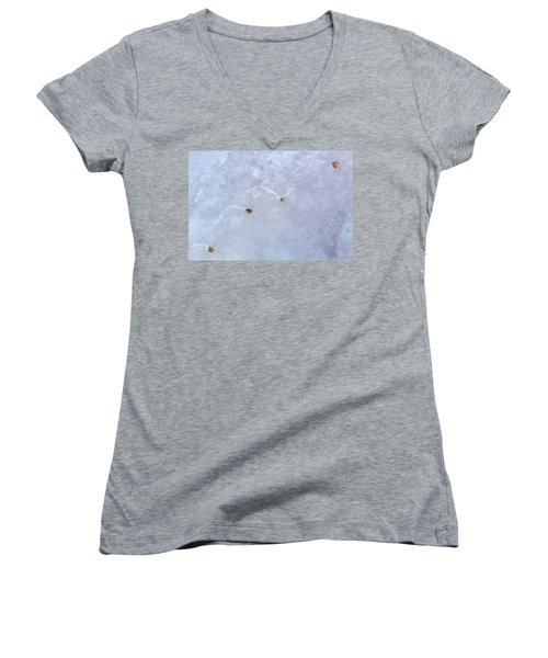 Moving Through Ice Women's V-Neck (Athletic Fit)