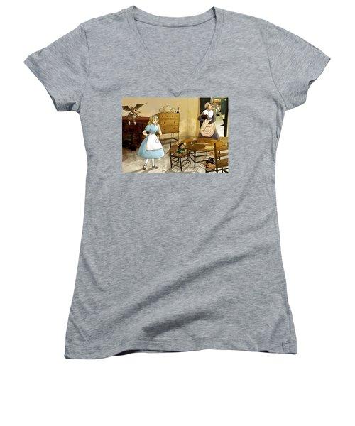Mrs. Gage's Kitchen Women's V-Neck T-Shirt (Junior Cut) by Reynold Jay