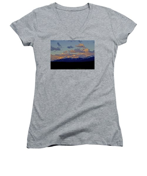 Mt Elbert Sunrise Women's V-Neck T-Shirt