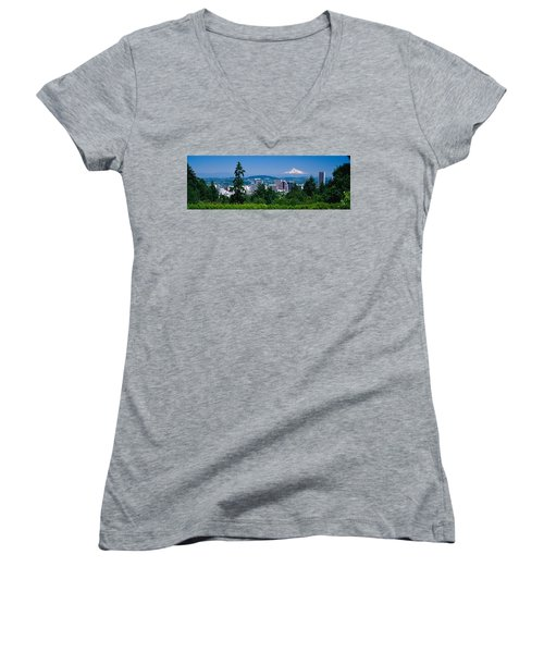 Mt Hood Portland Oregon Usa Women's V-Neck (Athletic Fit)