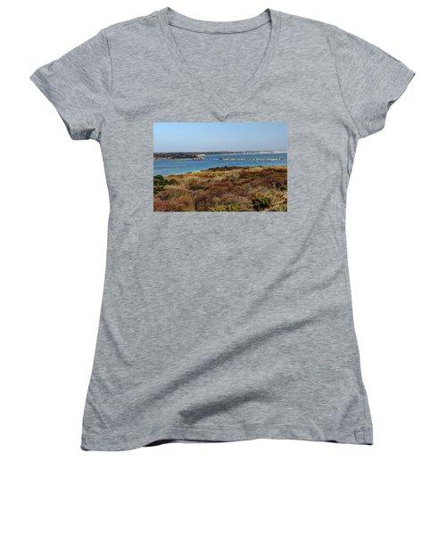 Mudeford Harbour Women's V-Neck T-Shirt
