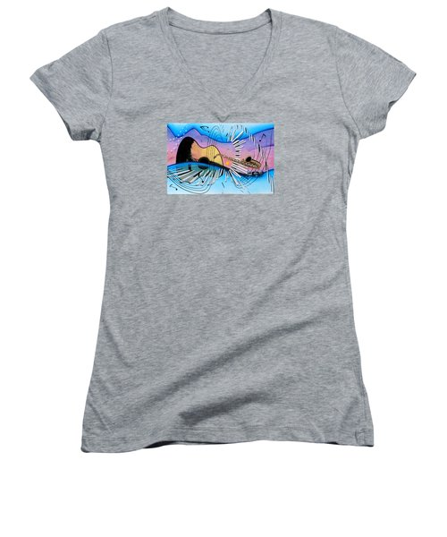 Musica Women's V-Neck T-Shirt