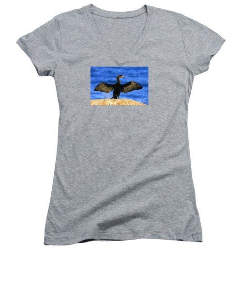 Women's V-Neck T-Shirt (Junior Cut) featuring the photograph Ocean Dreams by John F Tsumas