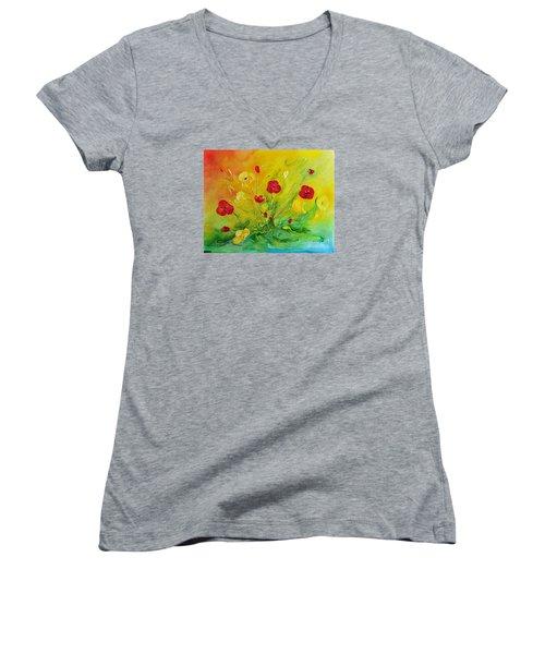 My Favourite Women's V-Neck T-Shirt (Junior Cut) by Teresa Wegrzyn