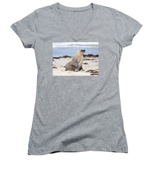 My Good Side Women's V-Neck (Athletic Fit)