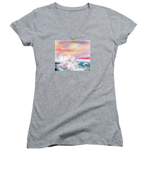 My Heaven Women's V-Neck T-Shirt (Junior Cut) by Lori  Lovetere
