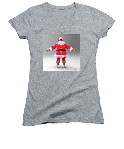 My Name Is Santa Women's V-Neck T-Shirt