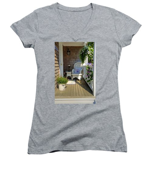 Nantucket Porch Women's V-Neck T-Shirt