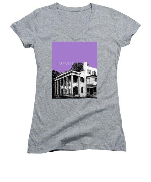 Nashville Skyline Belle Meade Plantation - Violet Women's V-Neck T-Shirt
