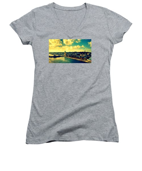 Nassau The Bahamas Women's V-Neck