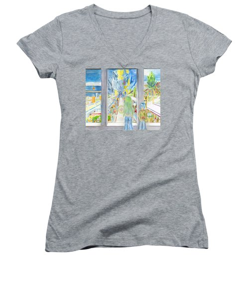 Nastros Women's V-Neck T-Shirt (Junior Cut) by Shawn Dall