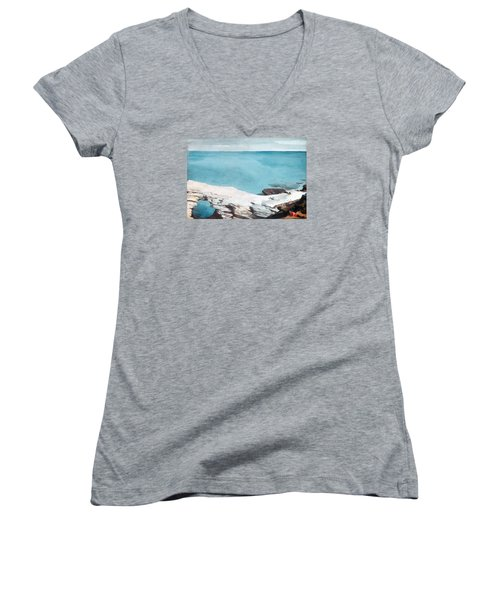 Natural Bridge Bermuda Women's V-Neck T-Shirt (Junior Cut) by Celestial Images