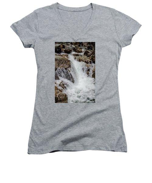 Naturally Pure Waterfall Women's V-Neck