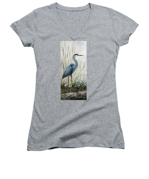 Natures Gentle Stillness Women's V-Neck T-Shirt (Junior Cut) by James Williamson