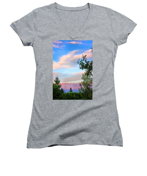 Natures Palette Women's V-Neck T-Shirt (Junior Cut) by Kristin Elmquist