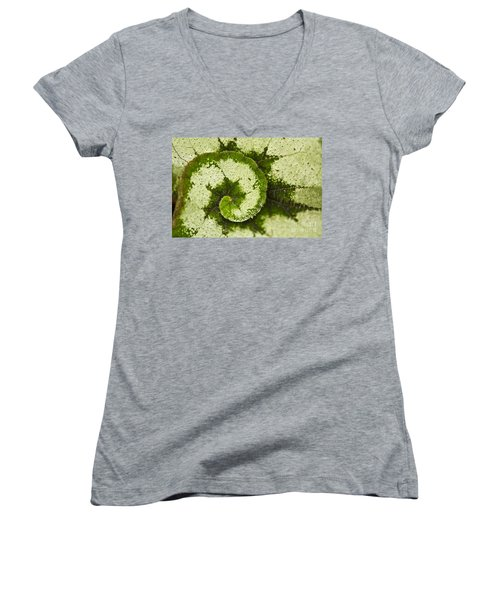 Women's V-Neck featuring the photograph Natures Spiral by Heiko Koehrer-Wagner