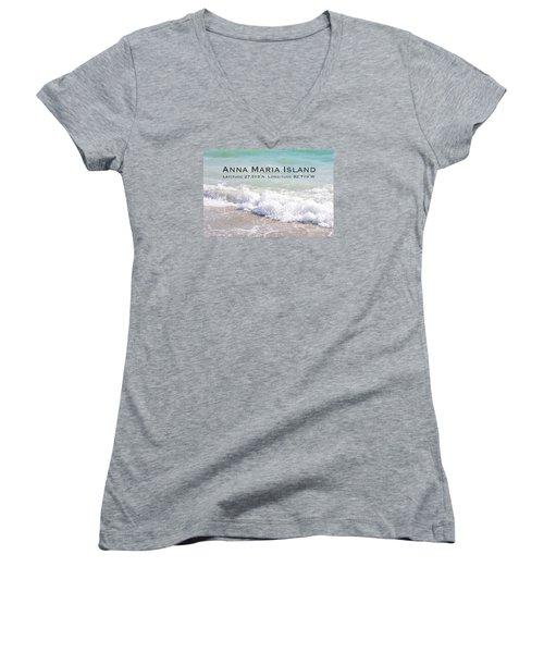 Nautical Escape To Anna Maria Island Women's V-Neck T-Shirt (Junior Cut) by Margie Amberge