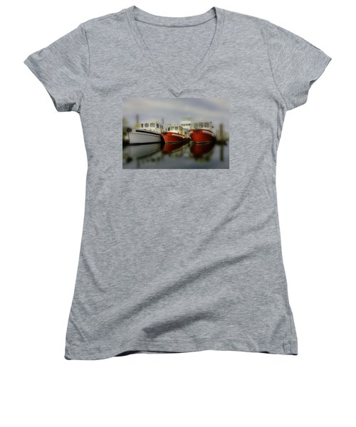 Women's V-Neck T-Shirt (Junior Cut) featuring the photograph Nautical by Sonya Lang