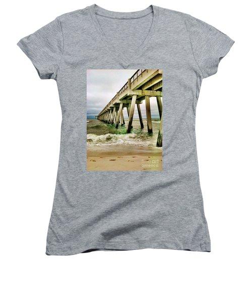 Navarre Pier Women's V-Neck T-Shirt