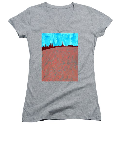 Needles And Dunes Original Painting Women's V-Neck