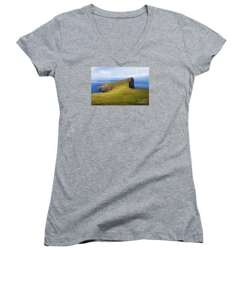 Neist Point  Women's V-Neck T-Shirt