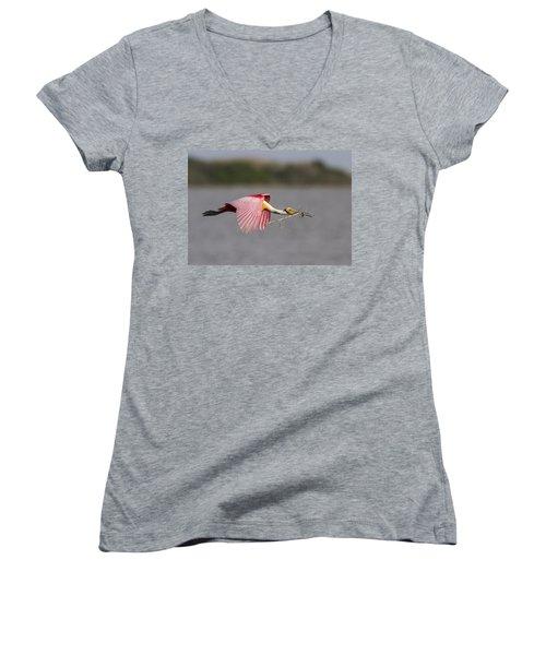 Nest Material Women's V-Neck T-Shirt
