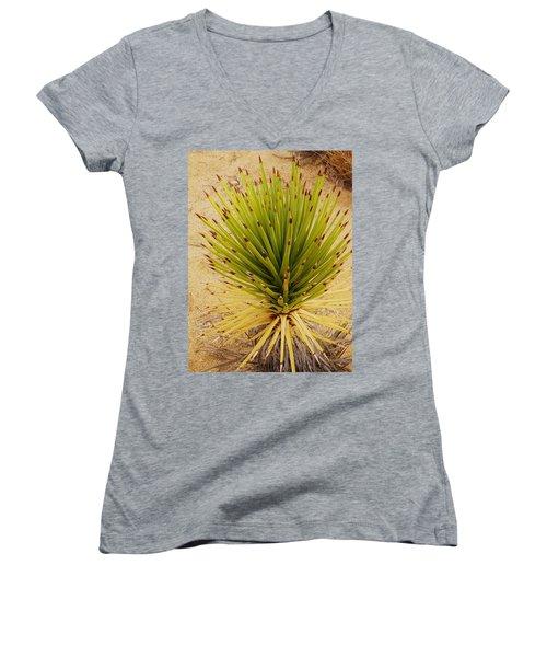 New Beginning   Women's V-Neck T-Shirt (Junior Cut) by Angela J Wright