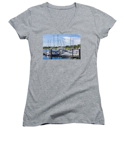 New Hampshire Marina Women's V-Neck (Athletic Fit)