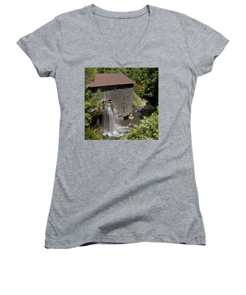 New Hope Mills  Women's V-Neck T-Shirt