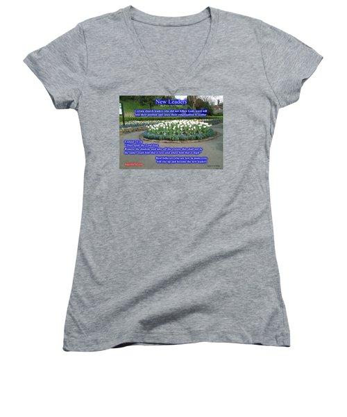 New Leaders Women's V-Neck T-Shirt