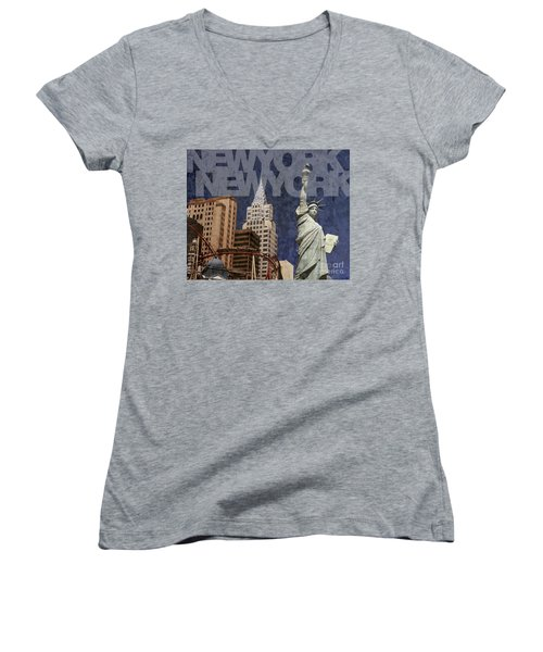 New York New York Las Vegas Women's V-Neck