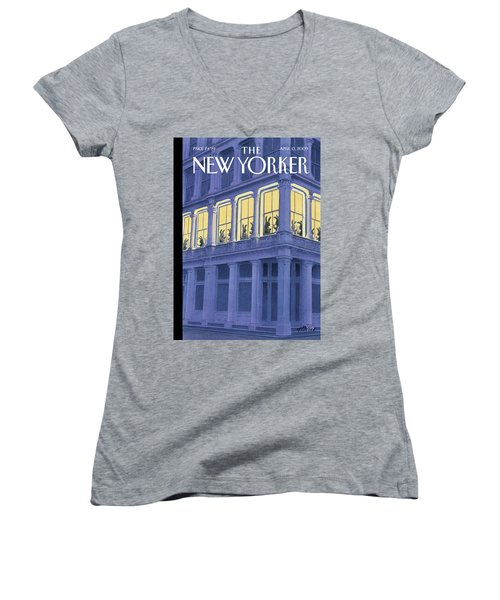 New Yorker April 13th, 2009 Women's V-Neck