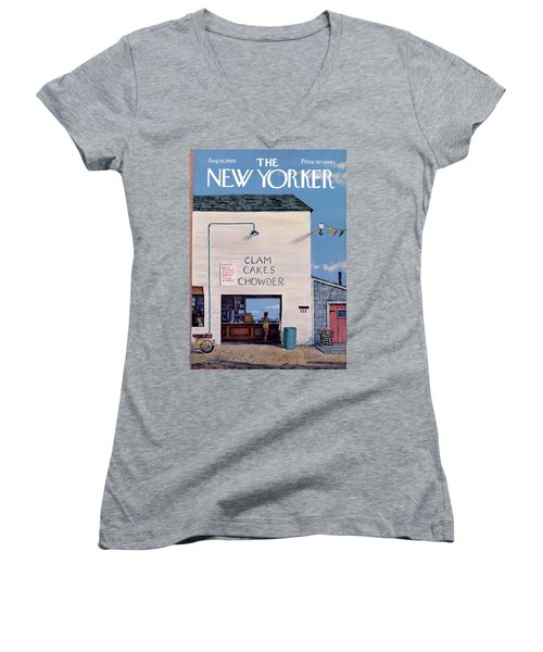 New Yorker August 16th, 1969 Women's V-Neck