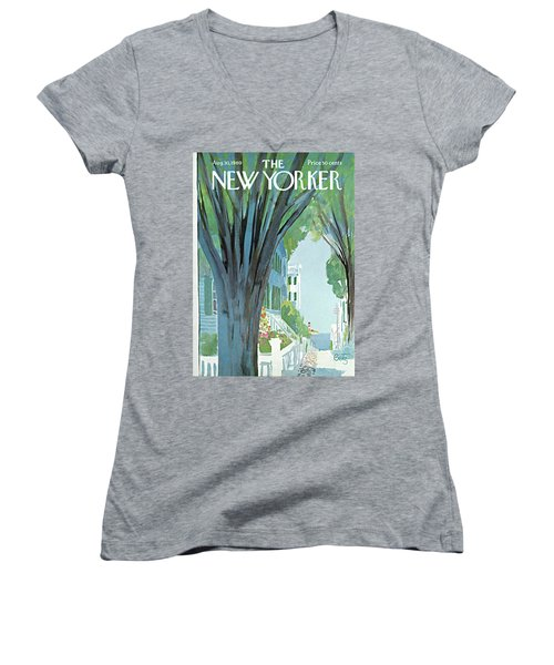 New Yorker August 30th, 1969 Women's V-Neck
