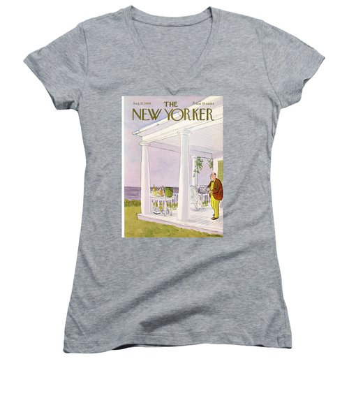 New Yorker August 31st, 1968 Women's V-Neck