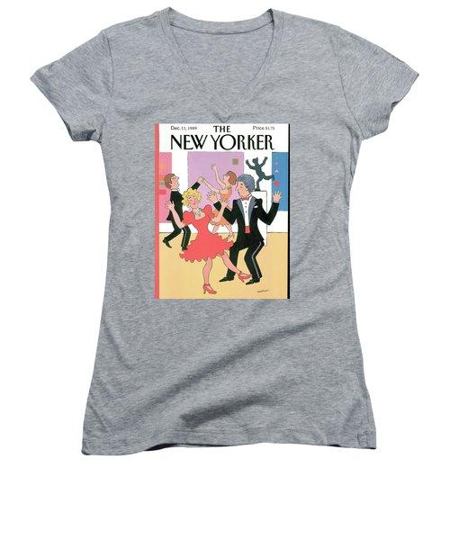 New Yorker December 11th, 1989 Women's V-Neck